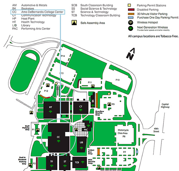 Portland Community College Sylvania Campus Map.2018 Handmade Musical Instrument Exhibit Directions